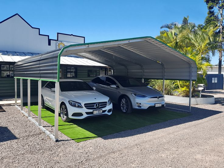 Our Double Shade Shed is our most popular carport for two