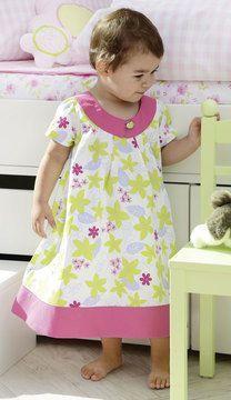 Kleid für Kinder nähen - Schnittmuster und Nähanleitung via Makerist.de