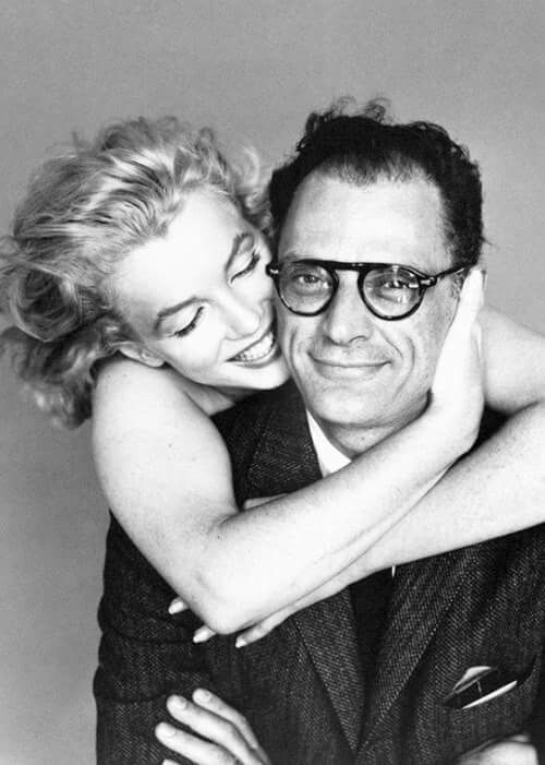 Marilyn Monroe and Arthur Miller photographed by Richard Avedon, 1957.