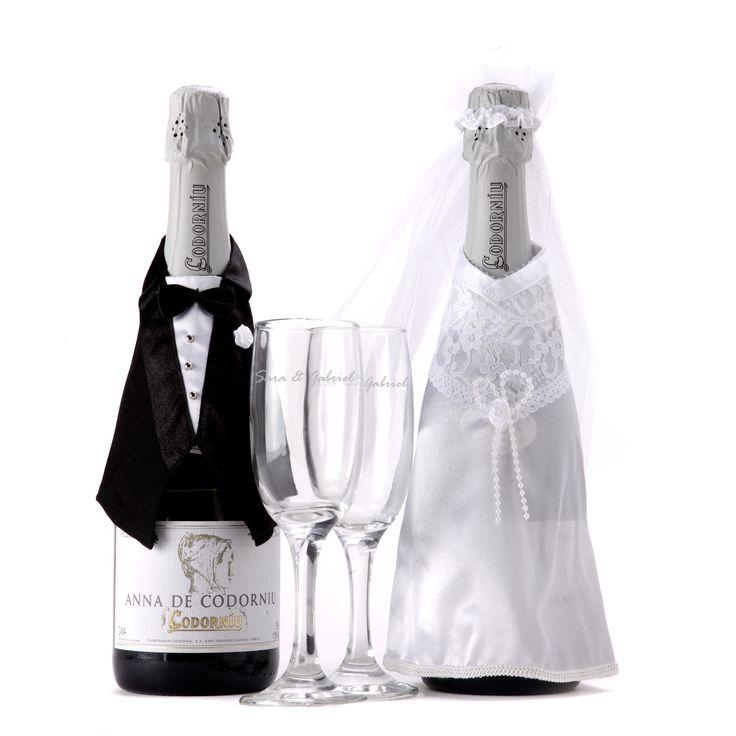 ¿Estás invitado a una boda? No te vuelvas loco buscando un regalo, unas copas personalizadas con cava pueden ser el mejor de los presentes :)