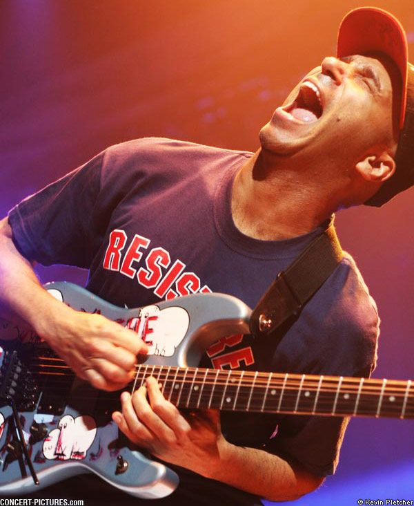 Tom Morello gets his own pin for being such a brilliant badass on the guitar, and a damn smart guy to boot.