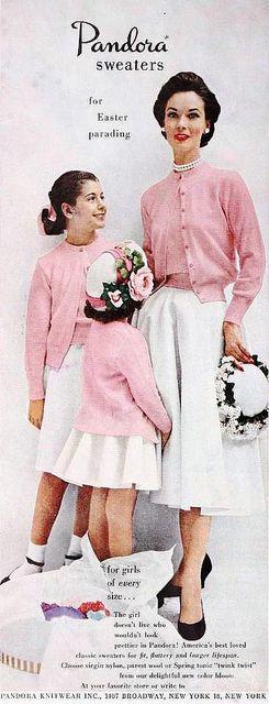 Pandora Sweaters ad, March 1953.