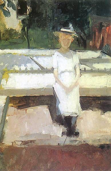 Dziewczynka w ogrodzie - Olga Boznańska