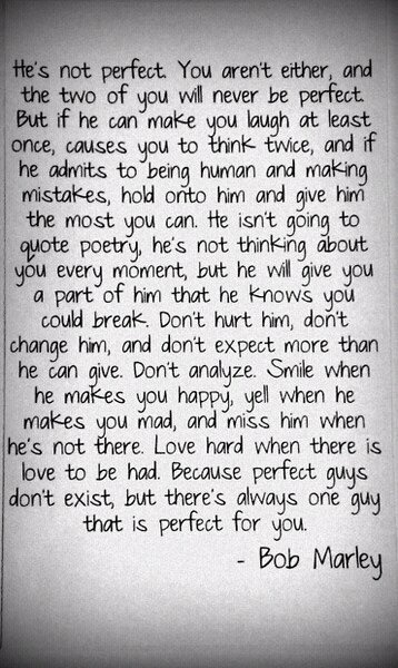 Marley says it best.
