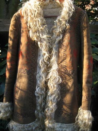 GLASTO - LUTELY FABULOUS ! REAL AFGHAN SHEEPSKIN COAT SMALL LADIES   eBay