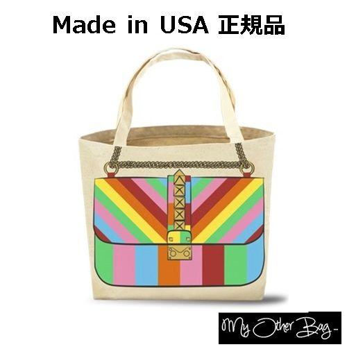 My Other Bag マイアザーバッグ アメリカ の トートバッグ ROXY RAINBOW bag レディース キャンパス キャンバス a4 入る 大きさ エコバッグ コットン 折りたたみ レジカゴ 人気 とーとばっぐ ショルダー 旅行 通学 肩掛け おしゃれ 正規品 エコ 布 海外 ブランド