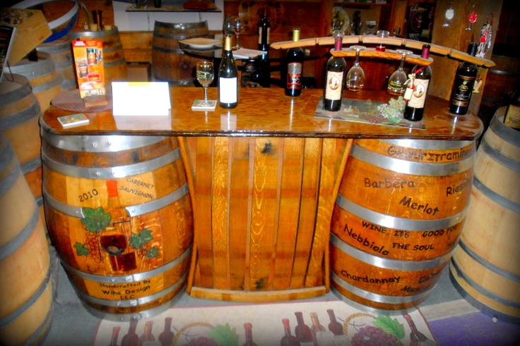 Wine Barrel Bar Wine Pinterest
