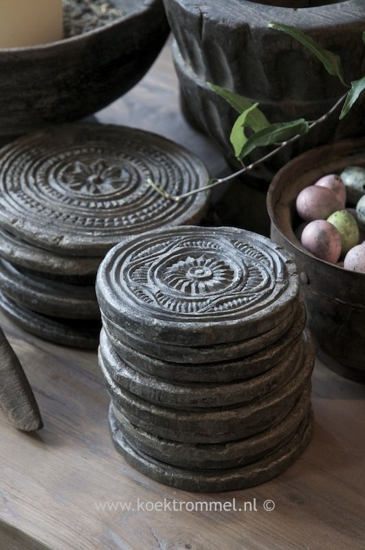 oude Indiase stenen, geschikt als onderzetter