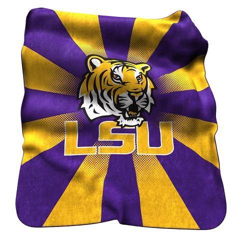 LSU Tigers Raschel Throw #LSUTigers