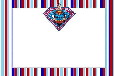 Superman Free Printable Invitations.