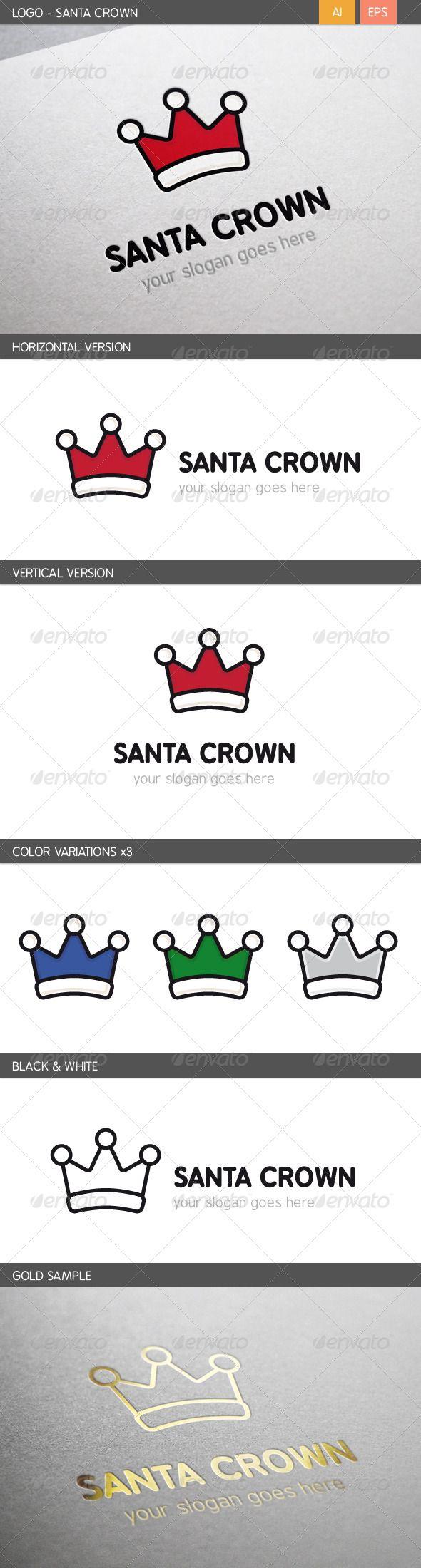 Santa Crown  - Logo Design Template Vector #logotype Download it here: http://graphicriver.net/item/santa-crown-logo/5815362?s_rank=1771?ref=nexion