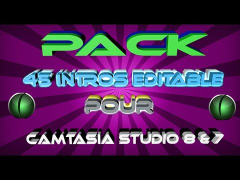 Le Pack 45 intro Editable pour  Camtasia Studio 8 & 7 fr