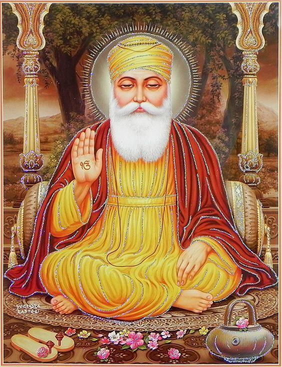 ਗੁਰੂ ਨਾਨਕ - Guru Nanak Dev Ji - Rai Bhoe-ki Talwandi (15. April 1469 - 22. September 1539) - was the founder of Sikh religion and the first of the ten Gurus of the Sikhs. Guru Nanak made four great Spiritual journeys, travelling to all parts of India, Sri Lanka, Arabia and Persia. and successfully challenged and questioned the existing religious tenants. His birth is celebrated world-wide as Guru Nanak Gurpurab on Kartik Pooranmashi, the full-moon day in the month of Katak, October–November.