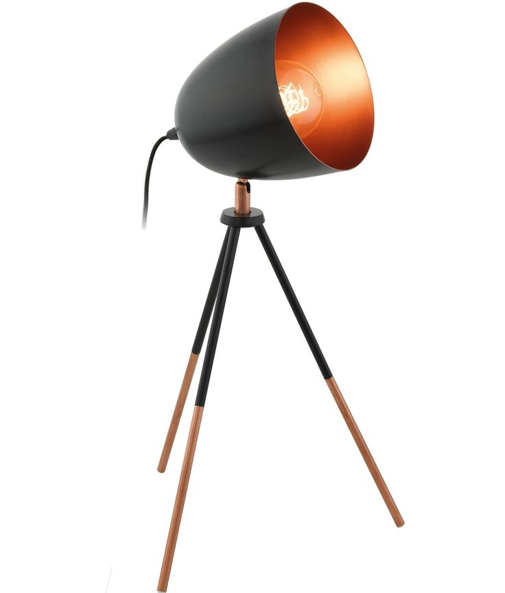 retro lighting. love this retro styled black and gold table lamp great in blue too lighting t
