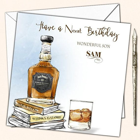Personalised Birthday Card Whisky Husband Son Nephew Mate Male Etsy Birthday Cards For Men Personalized Birthday Cards Birthday Cards