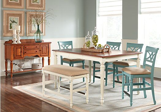 shop for a cindy crawford home ocean grove white 5 pc counter