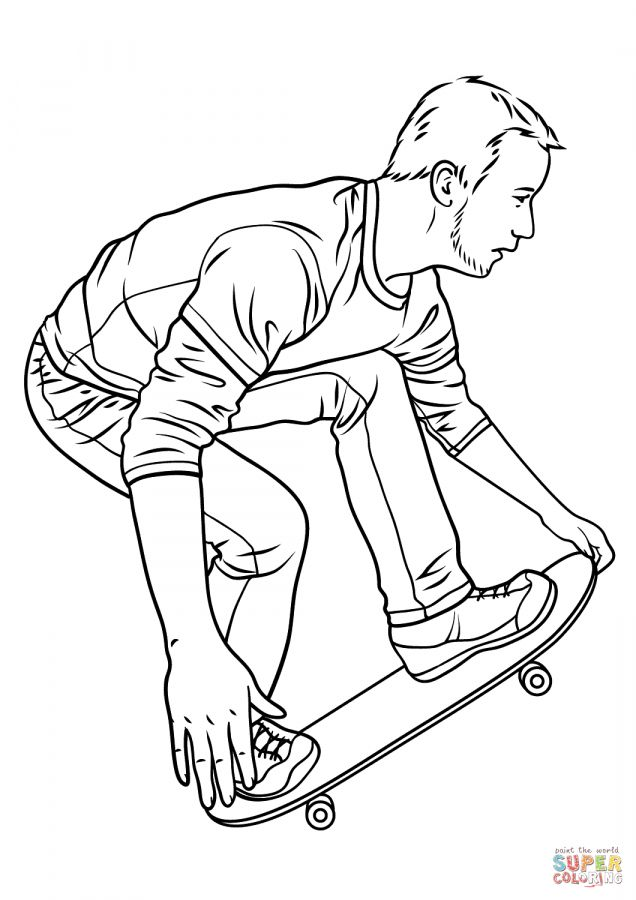 10 Skate Coloring Pagesfigure Skate Coloring Pages Ice Skate