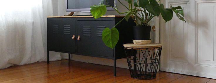 IKEA Hack - aus klapprigem PS-Schrank wird edle TV-Konsole   mintundmeer