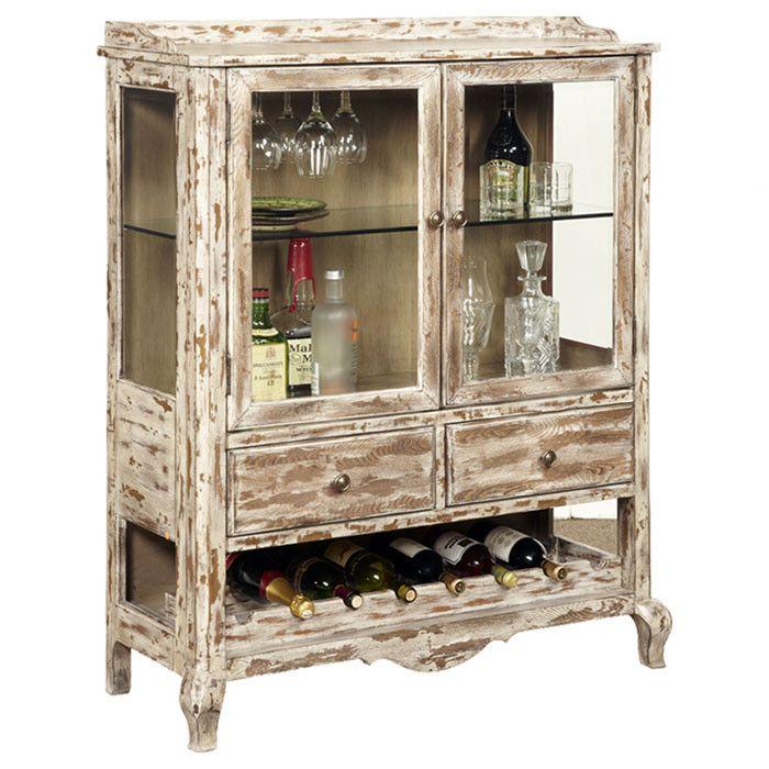 White Washed Wine Cabinet