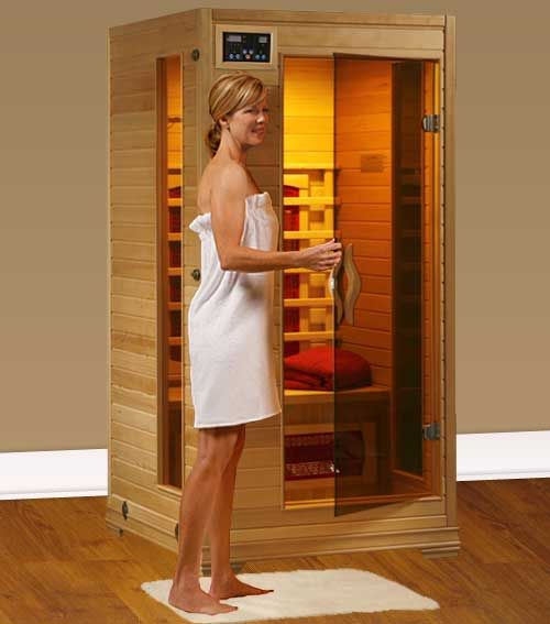 Perfect Heat Buena Vista 1 Person Ceramic Infrared Home Sauna  $804.95.  A great Christmas gift idea.