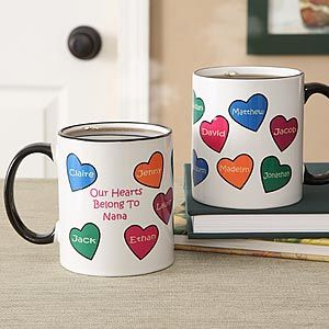 146 best valentines gifts for grandma images on pinterest personalized conversation hearts coffee mug negle Choice Image