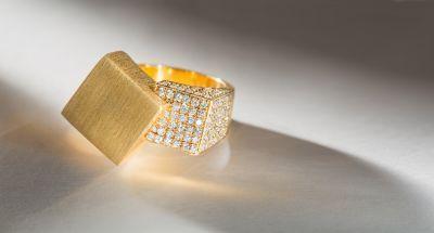 18K yellow gold diamond ring by Antonio Bernardo #igorman #antoniobernardo