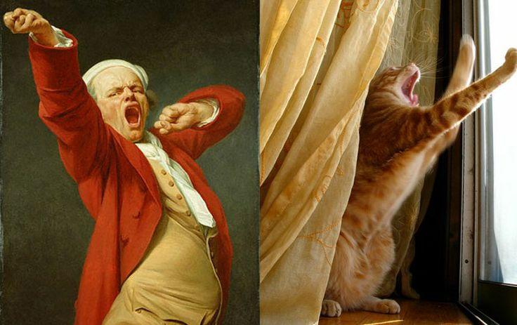Gatos que imitan obras de arte – Publimetro