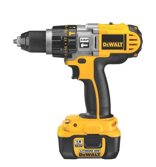 DEWALT XRP DCD970KL Cordless Drill Review describes the features and benefits of this heavy duty hammerdrill/drill/driver and its diffrences from DCD970B and DCD925drills.