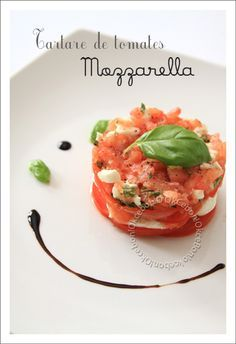 Tartare de tomates et de mozzarella