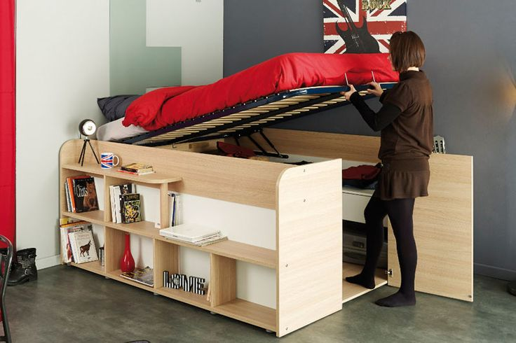 This compact bed-and-storage combination from French design company Parisot is a cool solution to the small space problem.