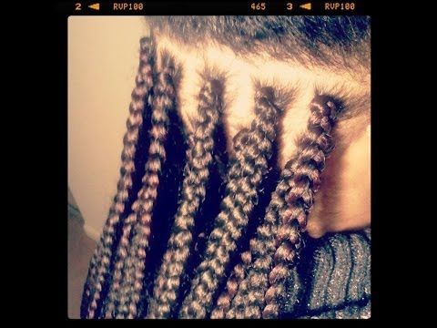 how to do a single box braid weave extensions - YouTube