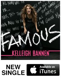 """Kelleigh Bannen's new single """"Famous"""" Now Available On iTunes. It is great! Go take a listen and hear for yourself."""