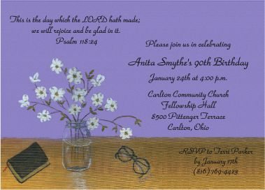 90th Birthday Invitations | 90th Bday | 90th birthday ...