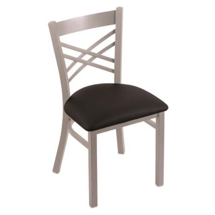 Holland Bar Stool Catalina Dining Chair with Faux Leather Seat - 62018ANBLKVINYL