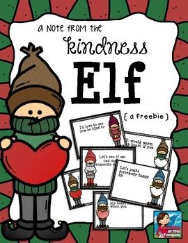 These little notes will surely make it easier for you to implement a kindness elf in your classroom or home this year!
