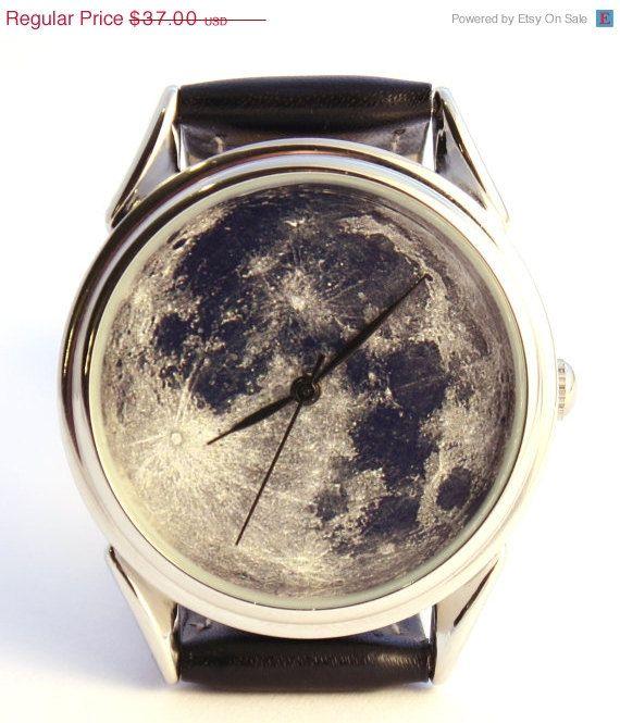 Sehen Sie Mondfoto unisex Uhr Damen Uhren von ClockworkUniverse
