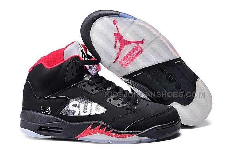 Only$82.00 KIDS JORDAN SHOES SUPREME X AIR JORDAN 5 BRED FOR SALE Free Shipping!