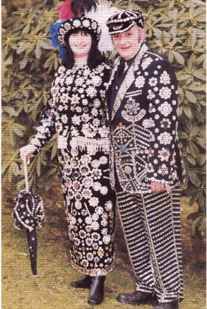Pearly King & Queen of Lancashire