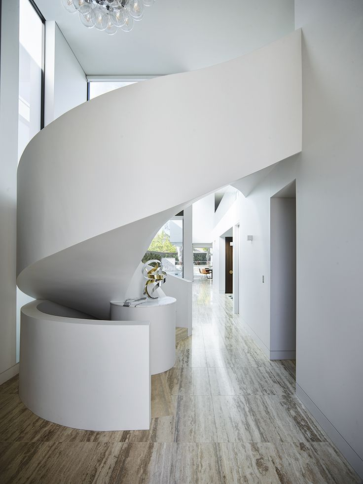 White Ribbon Staircase By Greg Natale