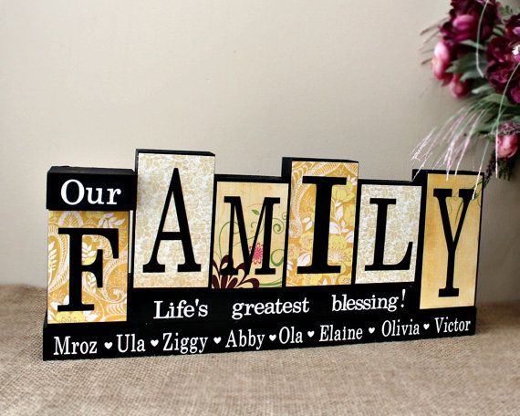 Our Family Personalized Home Decor Blocks  by TimelessNotion