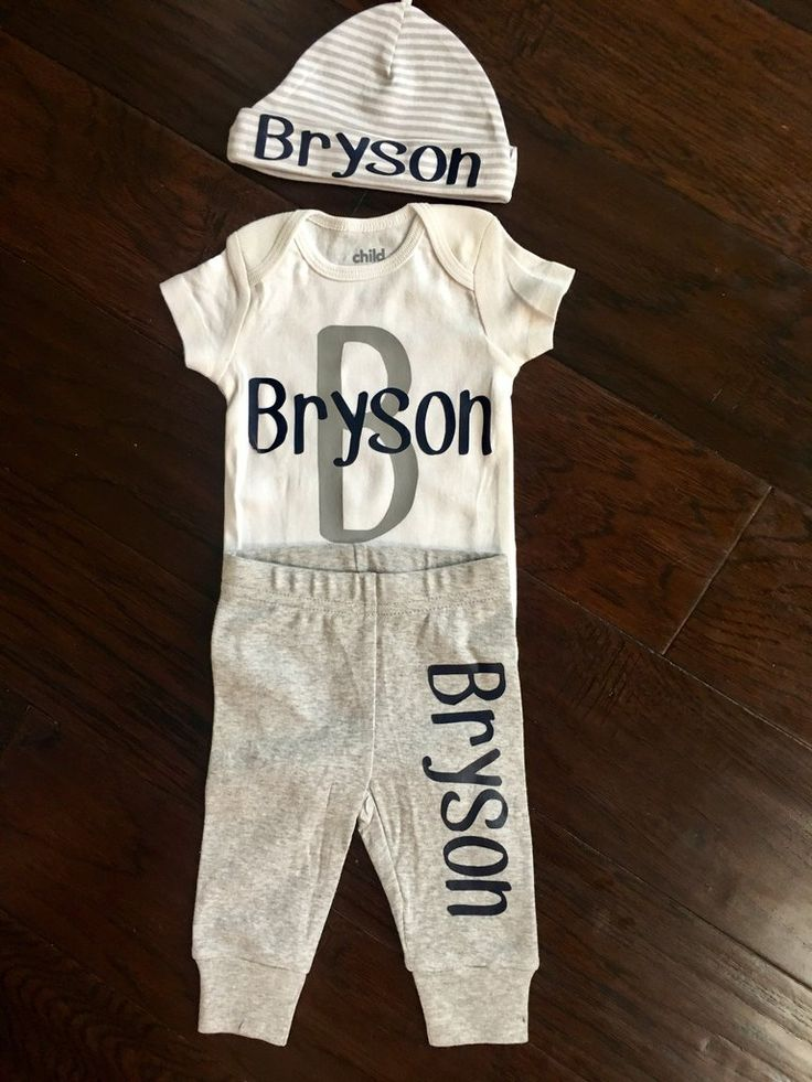 Baby Boy Outfit Outfit Includes Personalized Onesie Pants