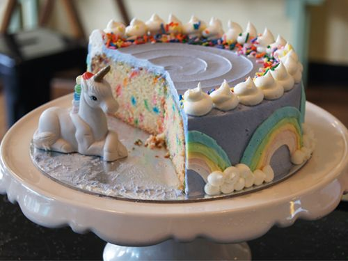 Unicorn Milkshake Cake (Vegan and Gluten free)