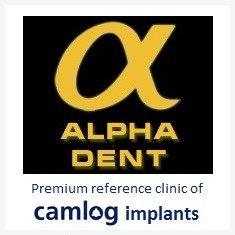 Alphadent Zahnarztpraxis Logo