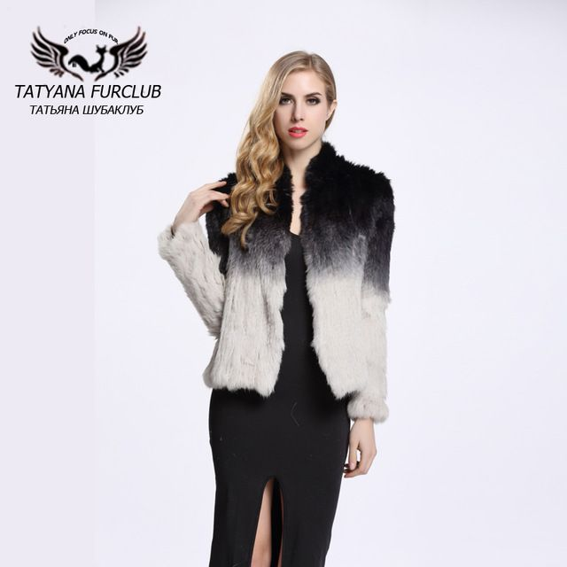 Real Fur Coat Large Warmer Thick Knitted Rabbit Coat For Women Real Fur Jacket Overcoat Genuine Fur Short Outwear BF-C0014 US $107.10-125.1 To Buy Or See Another Product Click On This Link  http://goo.gl/yekAoR
