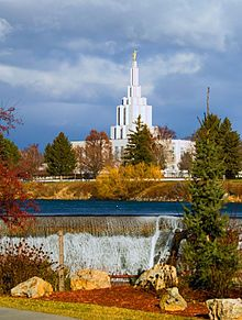 Idaho Falls temple. Dedicated Sept. 1945