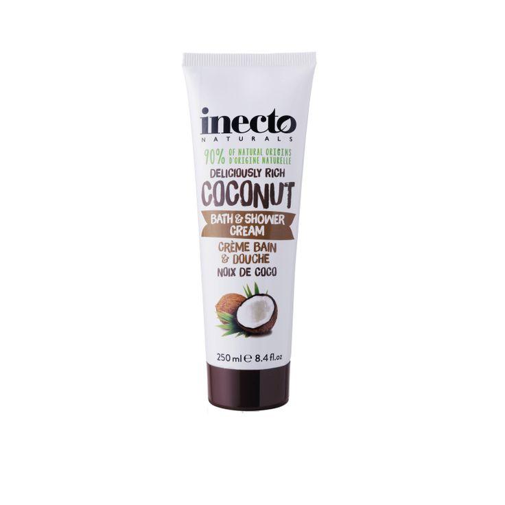 Inecto Naturals Coconut Bath & Shower Cream 100 % ekologisk kokosolja. Veganvänlig! Köp hos Ecolivin
