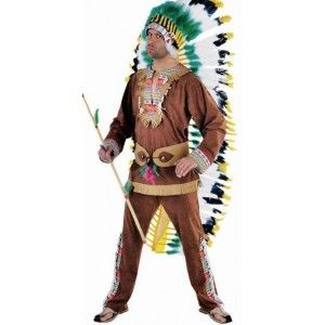 D guisement chef indien adulte homme deluxe d guisement cowboy indien western pinterest chefs - Deguisement western homme ...