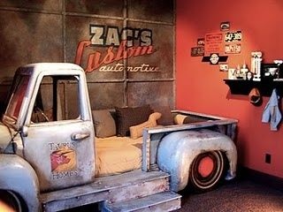 If only I could find an old truck and had the skills necessary to turn it into a bed. Kayden and Jed would have the coolest beds EVER!