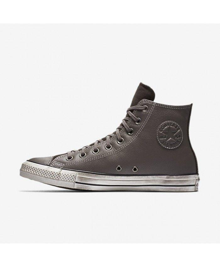 8b8a973f9d2e Converse Chuck Taylor All Star Leather High Top Grey 158964C-020 ...