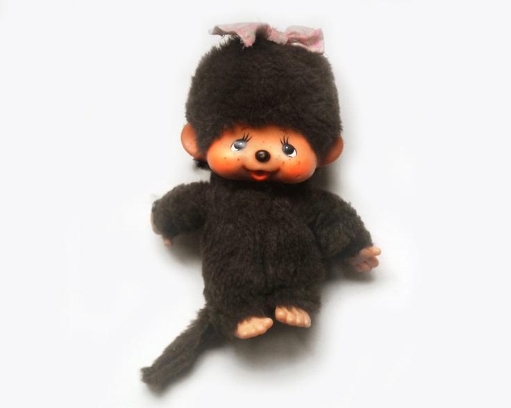 Vintage Monchhichi Girl Monkey